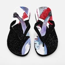 Cute Mystical art Flip Flops