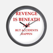 revenge Wall Clock