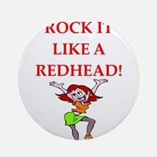 redhead Round Ornament