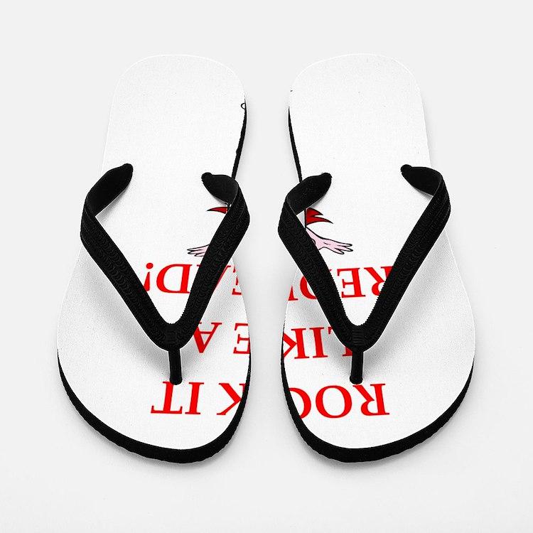 redhead Flip Flops