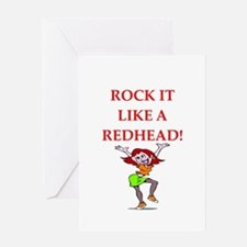 redhead Greeting Cards