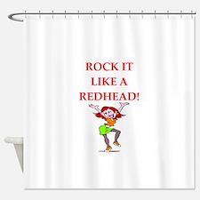 redhead Shower Curtain