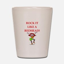redhead Shot Glass