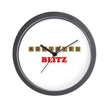 Addicted To Blitz Wall Clock