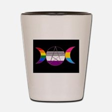 Triple Goddess Gay Demi Pansexual Pagan Pride Shot