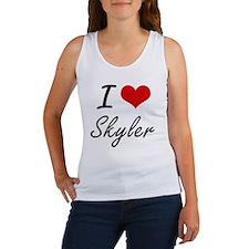 I Love Skyler artistic design Tank Top
