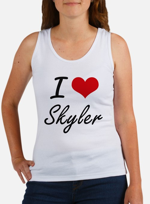 I Love Skyler artistic design Tank Top