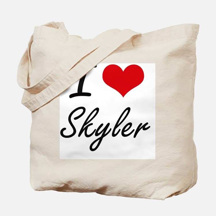 I Love Skyler artistic design Tote Bag