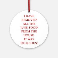 junk food Round Ornament