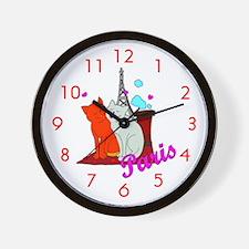 Paris Kitties Wall Clock