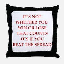 betting Throw Pillow