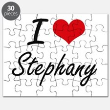 I Love Stephany artistic design Puzzle