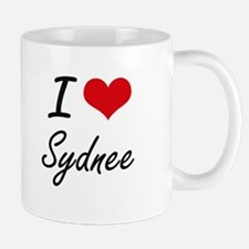 I Love Sydnee artistic design Mugs
