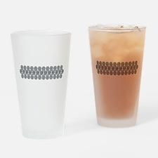 Wide Diamond Bracelet Drinking Glass