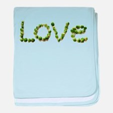 Love In Brussel Sprout Alphabet baby blanket