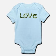 Love In Brussel Sprout Alphabet Body Suit