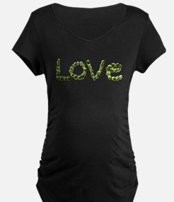 Love In Brussel Sprout Alphabet Maternity T-Shirt