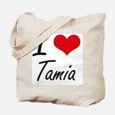 I Love Tamia artistic design Tote Bag