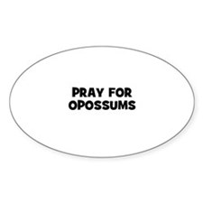 pray for opossums Oval Decal