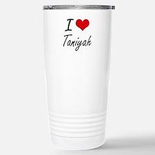 I Love Taniyah artistic Travel Mug