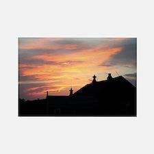 Sunset Barn Rectangle Magnet