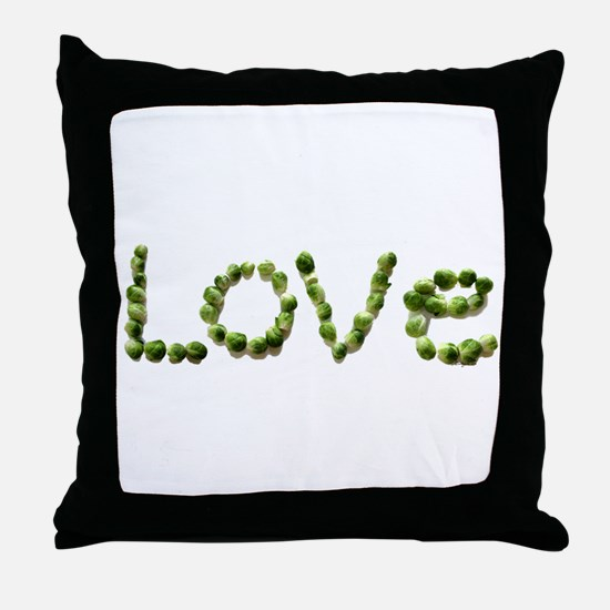 Love In Brussel Sprout Alphabet Throw Pillow