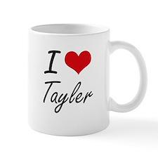 I Love Tayler artistic design Mugs