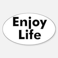 Enjoy Life Oval Decal