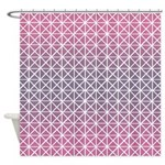 Triangles Pink And Purple Shower Curtain
