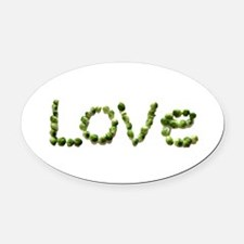 Love In Brussel Sprout Alphabet Oval Car Magnet