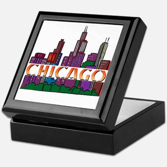 Chicago Skyline Keepsake Box
