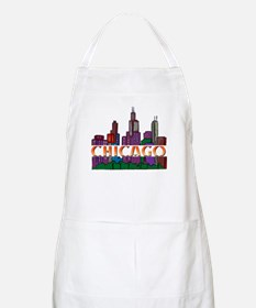 Chicago Skyline BBQ Apron