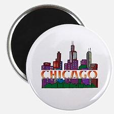 "Chicago Skyline 2.25"" Magnet (10 pack)"