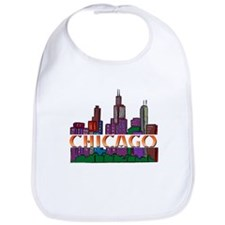 Chicago Skyline Bib