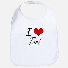 I Love Tori artistic design Bib