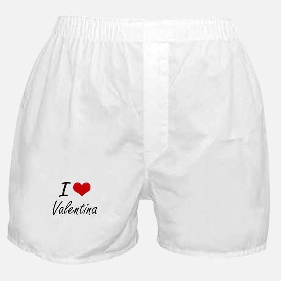 I Love Valentina artistic design Boxer Shorts