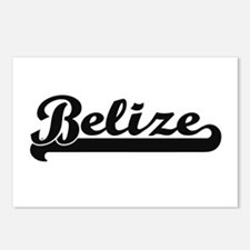 Belize Classic Retro Desi Postcards (Package of 8)