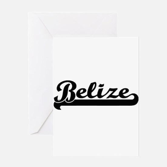 Belize Classic Retro Design Greeting Cards