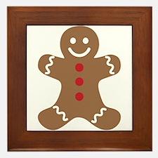 Gingerbread Man Framed Tile