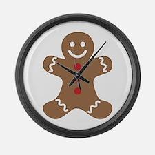 Gingerbread Man Large Wall Clock