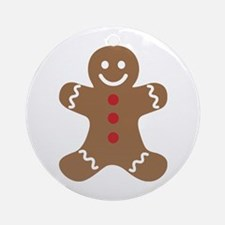 Gingerbread Man Round Ornament