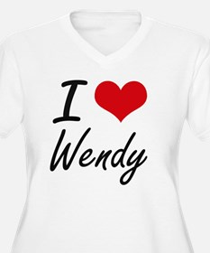 I Love Wendy artistic design Plus Size T-Shirt