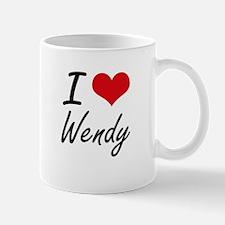 I Love Wendy artistic design Mugs