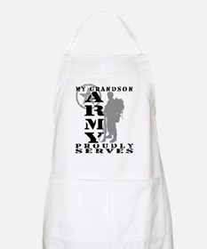 Grandson Proudly Serves 2 - ARMY BBQ Apron