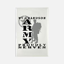 Grandson Proudly Serves 2 - ARMY Rectangle Magnet