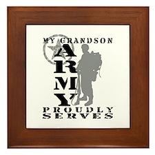 Grandson Proudly Serves 2 - ARMY Framed Tile