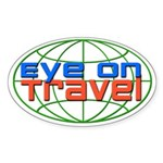 Eye On Travel Oval Sticker
