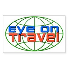 Eye On Travel Rectangle Decal