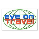 Eye On Travel Rectangle Sticker