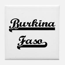 Burkina Faso Classic Retro Design Tile Coaster